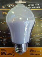Lampadina lampada Led e27 5w luce con sensore  rilevamento movimento Offerta