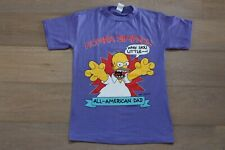 Vintage 90s The Simpsons Homer Simpson All American Dad Purple T-Shirt Size L