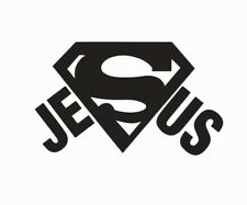 Jesus Superman Vinyl Die Cut Car Decal Sticker - FREE SHIPPING