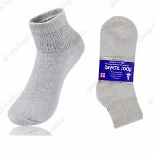 3 6 9 12 Pairs Mens Women Diabetic Health Quarter/Ankle Circulatory Cotton Socks