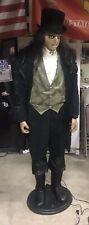 6' Edwardian Butler Excellent Cond. w/Microphone & Original Box Halloween Prop