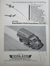 1/59 PUB TERRA-AERO STARTBAHN KEHRMASCHINE RUNWAY SWEEPER PISTE AIRPOR GERMAN AD