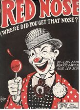 RED NOSE (WHERE DID YOU GET THAT NOSE?) SHEET MUSIC BY LEW BROWN-1924-VERY RARE!