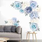 Wall Sticker Peony Series Blue Home Bedroom Decoration Pvc Modern Art Decal