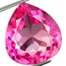18.65ct Lab-Created AAA+ CUTE PINK SAPPHIRE PEAR GEMSTONE 16 x 17 rose saphir