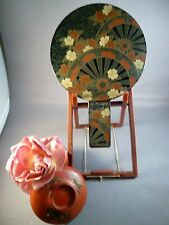 VINTAGE JAPANESE DOUBLE MIRROR MAKI E LACQUER DECORATION - GEISHAS LOVED THEM!