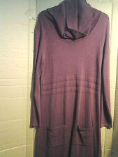Cotton Blend Cowl Neck Jumper Dresses