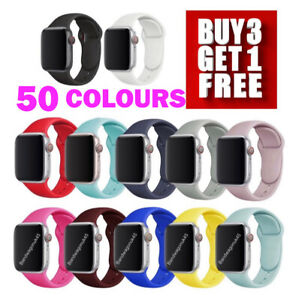 For Apple Watch SILICONE Sport  iWatch Strap Band 38 40 42 44mm FOR SE 7 6 5 4 3