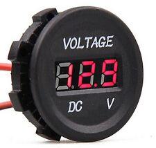 12V-24V Car Boat Marine Voltmeter Voltage Meter Gauge Socket Red LED Digital