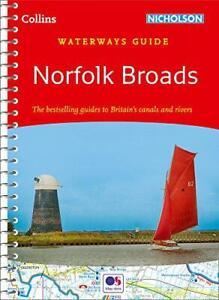Norfolk Broads (Collins Nicholson Waterways Guides) by Collins Maps, NEW Book, F