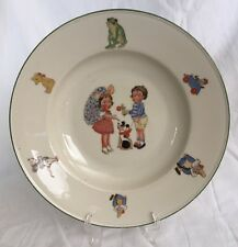 **Rare** Antique Johann Haviland Hand Painted Child's Plate... Bavaria, Germany