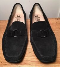 MEPHISTO Idelia Ring LOAFERS Womens size 8 M Black Suede Slip On FLATS Shoes