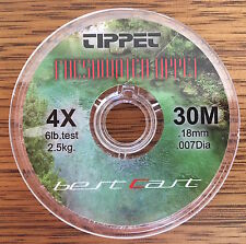 Fly Fishing Tippet Material 4X 6lb 30m Delta Ultraclear Best Cast Tippet