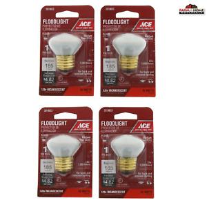 (4) Ace R14 Reflector Floodlight Bulb 40W 120V ~ 3019833 ~ NEW