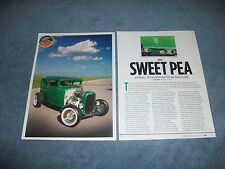 "1930 Ford Model A Highboy Tudor Sedan Hot Rod Article ""Sweet Pea"""