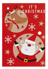 NEW SET OF 20 x SANTA AND RUDOLPH SELF ADHESIVE CHRISTMAS GIFT TAGS 7.5CM X 5CM