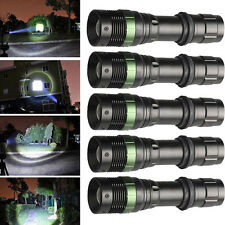 5X 10000Lumen XM-L T6 Zoomable LED Flashlight Torch Lamp Camping Light 18650