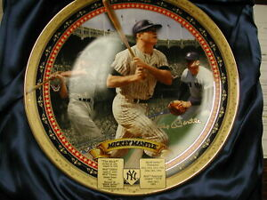 Mickey Mantle NY Yankees Masterpiece Limited Edition Plate #308