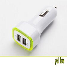 LED Dual Port USB Car Charger Adapter Cigarette Socket Lighter For Mobile Phone