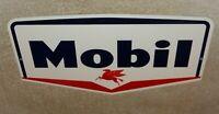 """VINTAGE MOBIL MOBILGAS DIE-CUT FLYING PEGASUS HORSE 12"""" METAL GASOLINE OIL SIGN!"""