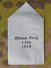 Original German WWII Un-Issued 1939 Iron Cross 2nd Class Issue Envelope