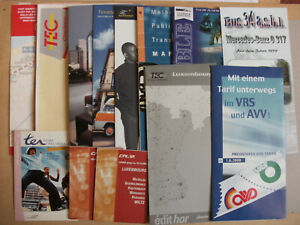 14 Various Transport Bus Rail Leaflets & Timetables Inc Luxembourg Melbourne