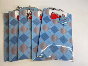 5 GIFT BAGS Dad Themed PATTERN NEW party favors supplies accessories