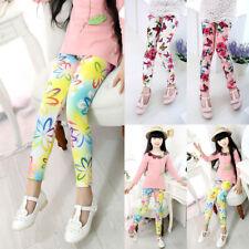 Kids/Girl/Baby/Child Skinny Leggings Flower Floral Printed Pants Trousers 1-12Y