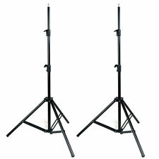2x 7ft Light Stands Tripod For Photography Studio Boom Softbox Video Lighting