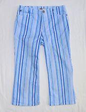 Faded Glory Girls 10 Blue White Striped Stretch Cotton Jeans CUTE + SUPER CLEAN