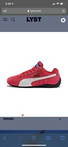 Puma Speedcat OG Sparco Athletic Sneaker Red Suede Woman's Shoe Size 10