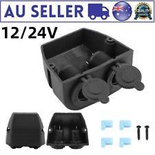 12v-24v 2 Way Car Boat Dual Port Surface Mount Cigarette Lighter Socket AU Stock