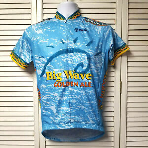 Kona Brewing Co. Big Wave Golden Ale Blue Cycling Jersey CANARI Men's SMALL