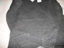 Calvin Klein Women's Shirt Top Blouse  CHARCOAL Gray Size MEDIUM