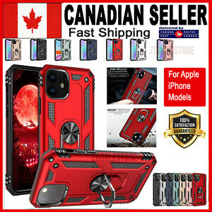 For iPhone 12 Mini 11 Pro XS Max XR 7 8 Plus Case Heavy Duty Magnetic Ring Cover