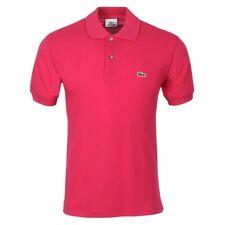 Mens Lacoste L1212 Regular Fit Polo Shirt Dark Pink