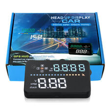 """Universal 3.5"""" Car HUD GPS Head Up Display Gauge Fuel Consumption Speed For BMW"""