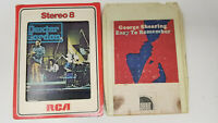 Set of 2 8 Track Tapes Dexter Gordon George Shearing Easy to Remember