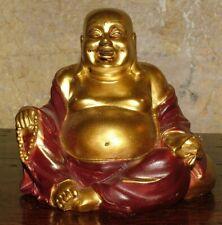STATUA ARREDO BUDDHA BUDDA FORTUNA SOLDI INDU PROTEZIONE AMULETO INDIA ETNICO 3B