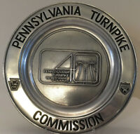 Pennsylvania Turnpike 40th Anniversary Plate, w/ maker's brochure, 1980