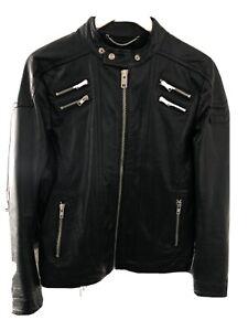 Diesel Leather Jacket Medium