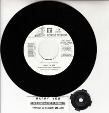 "B. B. KING & ERIC CLAPTON  Marry You 7"" 45 rpm record NEW + juke box title strip"