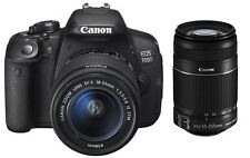NEW Canon EOS 700D Digital SLR Camera with 18-55mm and 55-250mm Lens UK DISPATCH