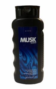 avon musk marine 2 in 1 hair & body wash 11.8 fl oz