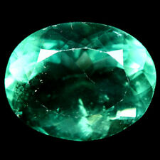 12.20 CT. NATURAL GREEN CHINA FLUORITE OVAL