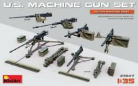 MINIART 37047 US MACHINE GUN SET 6 1/35 Plastic Model Kit FREE SHIP