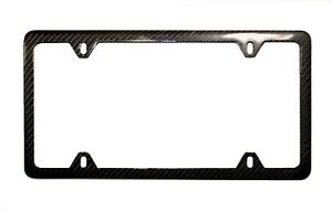 GENUINE 100% CARBON FIBER LICENSE PLATE FRAME TAG COVER 3K With FREE CAPS