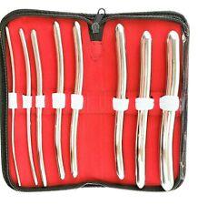 Hegar Uterine Dilator Set of 8  Diagnostic GYN Surgical Set Kit Stainless Steel