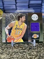 2013-14 Totally Certified #74 Pau Gasol Game Used Jersey Patch SP LA Lakers!!!