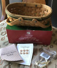 Longaberger 2006 Tree Trimming Nature's Berry Basket Green With Tie-on NIB